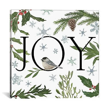 The Holiday Aisle 'Peace and Joy' Graphic Art on Wrapped Canvas; 26'' H x 26'' W x 1.5'' D