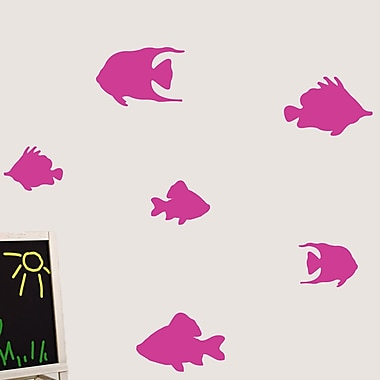 SweetumsWallDecals Fish Wall Decal; Hot Pink