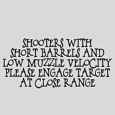 SweetumsWallDecals Shooters w/ Short Barrels Wall Decal; Black