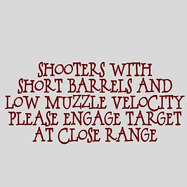 SweetumsWallDecals Shooters w/ Short Barrels Wall Decal; Cranberry