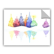 The Holiday Aisle Holiday Trees Wall Decal; 36'' H x 48'' W x 0.1'' D