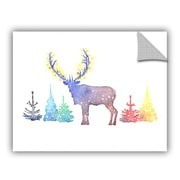 The Holiday Aisle Holiday Elk Wall Decal; 24'' H x 32'' W x 0.1'' D
