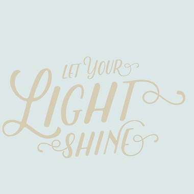 SweetumsWallDecals Let Your Light Shine Wall Decal; Light Beige