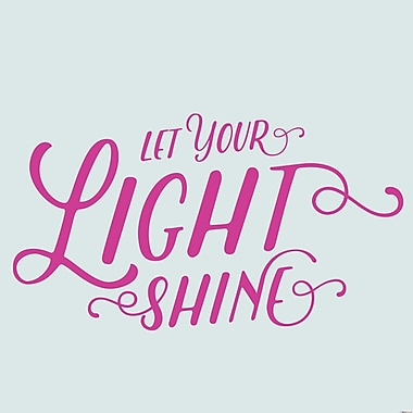 SweetumsWallDecals Let Your Light Shine Wall Decal; Hot Pink