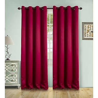 Winston Porter Sheri Solid Blackout Thermal Grommet Single Curtain Panel; Red