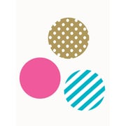 SimpleShapes Mixed Patterned Dots Wall Decal; Pink/Teal/Gold