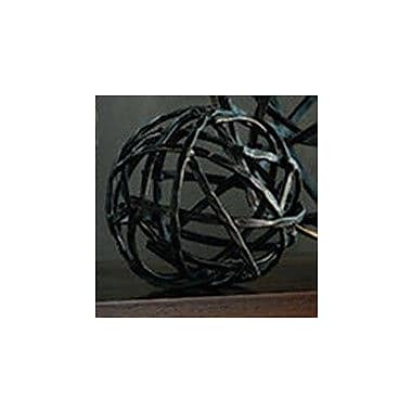 17 Stories Strap Sphere Iron Sculpture; Small