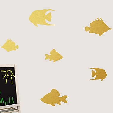 SweetumsWallDecals Fish Wall Decal; Gold