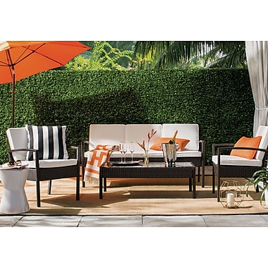 World Menagerie Dominguez 4 Piece Deep Seating Group w/ Cushion