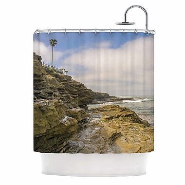 East Urban Home 'Rocks Over the Water' Shower Curtain