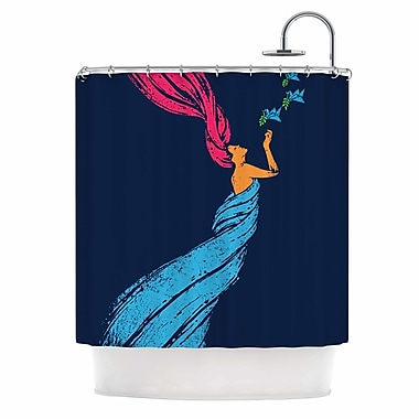 East Urban Home 'Welcomes Peace' Illustration Shower Curtain