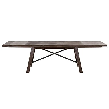Gracie Oaks Leigh Extendable Distressed Dining Table