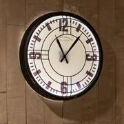 17 Stories 17.5'' Round Distressed Black Wall Clock