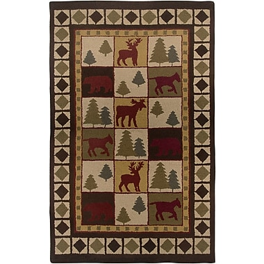 Rizzy Rugs Country Hand-Tufted Wool Brown Area Rug; 5' x 8'