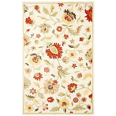 Rizzy Home Dimension Hand-Tufted Wool Ivory Multi Bubblerary Rug; Runner 2'6'' x 8'
