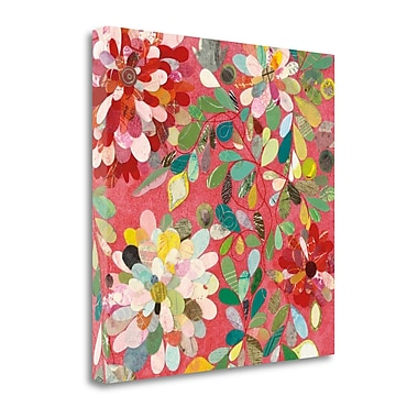 Tangletown Fine Art 'Red and Pink Dahlia II' by Candra Boggs Painting Print on Wrapped Canvas