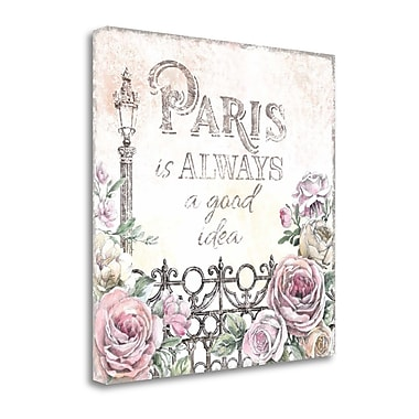 Tangletown Fine Art 'Paris Roses IV' by Beth Grove Graphic Art on Wrapped Canvas; 35'' H x 35'' W
