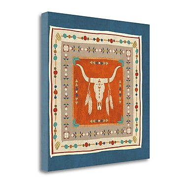 Tangletown Fine Art 'Southwest at Heart Tile I' by Veronique Charron Graphic Art on Wrapped Canvas