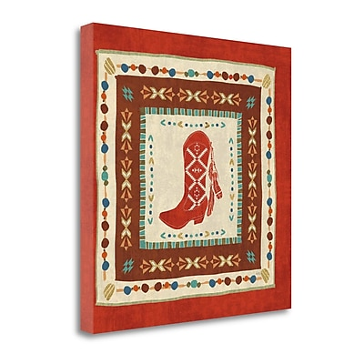 Tangletown Fine Art 'Southwest at Heart Tile II' Graphic Art Print on Canvas; 20'' H x 20'' W