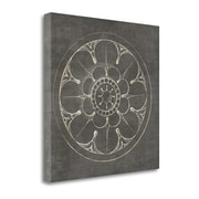 Tangletown Fine Art 'Rosette III Gray' by Wild Apple Portfolio Graphic Art on Wrapped Canvas