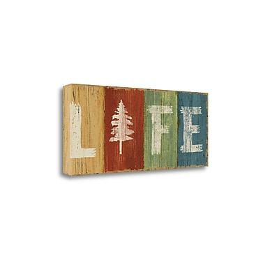 Tangletown Fine Art 'Lake Lodge VI' by Sue Schlabach Textual Art on Wrapped Canvas; 13'' H x 32'' W