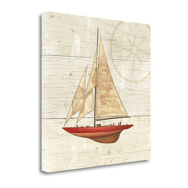 Tangletown Fine Art 'Nautique II' by James Wiens Graphic Art on Wrapped Canvas; 23'' H x 23'' W