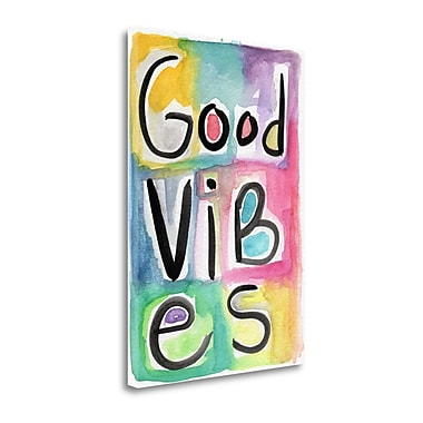 Tangletown Fine Art 'Good Vibes' Textual Art on Canvas; 16 ''H x 22 ''W x 1.5''D