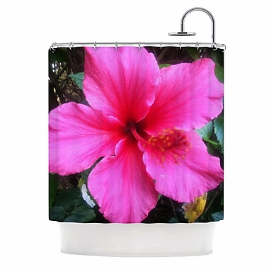 East Urban Home 'Tropical Pink Hibiscus' Shower Curtain