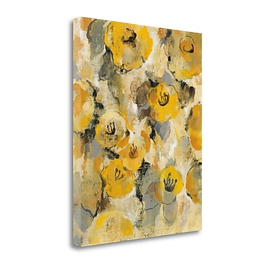 Tangletown Fine Art 'Yellow Floral II' by Silvia Vassileva Painting Print on Wrapped Canvas
