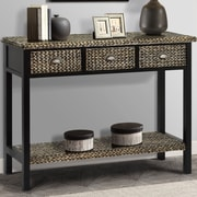 World Menagerie Dimitri Console table; Silver Grey Patina