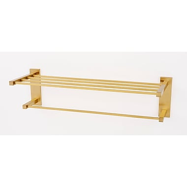 Alno Contemporary II Wall Mounted Towel Rack; Satin Brass