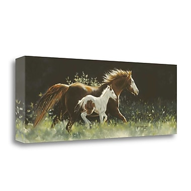 Tangletown Fine Art 'Keeping Up w/ Mother' Photographic Print on Canvas; 14'' H x 39'' W