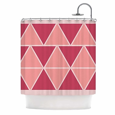 East Urban Home 'Triangles' Shower Curtain; Pink