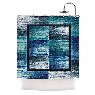 East Urban Home 'Tavertina' Mixed Media Shower Curtain; Blue/Teal