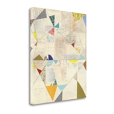 Tangletown Fine Art 'Geometric Background II V.2' by Courtney Prahl Graphic Art on Wrapped Canvas