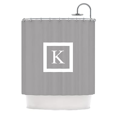 East Urban Home 'Monogram Solid' Shower Curtain; Gray