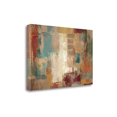 Tangletown Fine Art 'Oriental Trip Crop' by Silvia Vassileva Painting Print on Wrapped Canvas