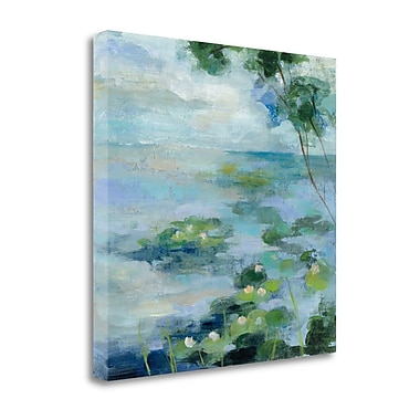 Tangletown Fine Art 'Lily Pond II' by Vassileva Silvia Painting Print on Wrapped Canvas