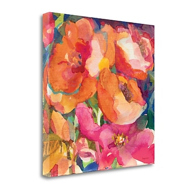 Tangletown Fine Art 'Wild Beach Roses II' by Dusty Knight Painting Print on Wrapped Canvas