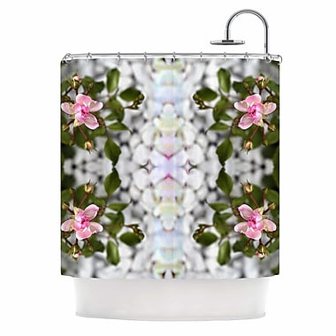 East Urban Home 'Roses L' Shower Curtain