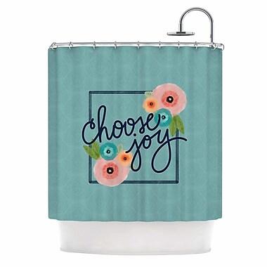 East Urban Home 'Choose Joy (Floral)' Digital Shower Curtain