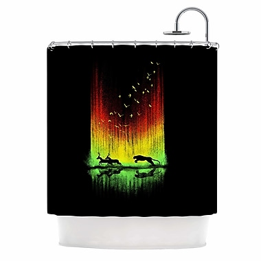 East Urban Home 'Give Chase' Digital Shower Curtain