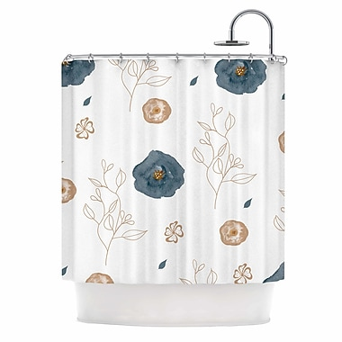 East Urban Home 'Blue Collection - Deli' Shower Curtain