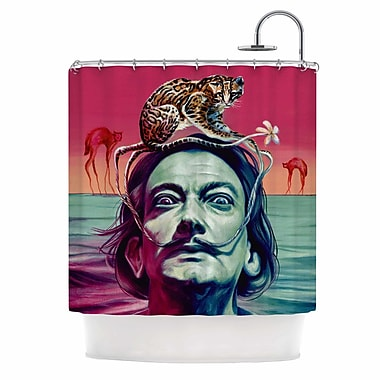 East Urban Home 'Babou' Illustration Shower Curtain