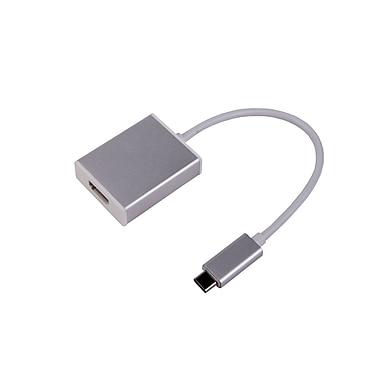 LMP - Adaptateur USB-C à HDMI 2.0, boîtier aluminium, argent (15987)