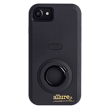 Case-Mate Allure Selfie Cell Phone Case for iPhone 7, Black (CM035450x)