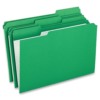 Pendaflex Grid Pattern Color Legal File Folders, Legal, 8 12