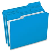 "Pendaflex Grid Pattern Color Legal File Folders, Legal, 8 12"" x 14"" Sheet Size, Blue, 100Box"