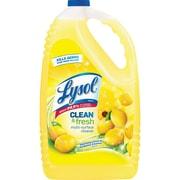 Lysol Clean/Fresh Lemon Cleaner, Liquid, 1.13 gal (144 fl oz), Clean & Fresh Lemon Scent, 4/CT, Yellow