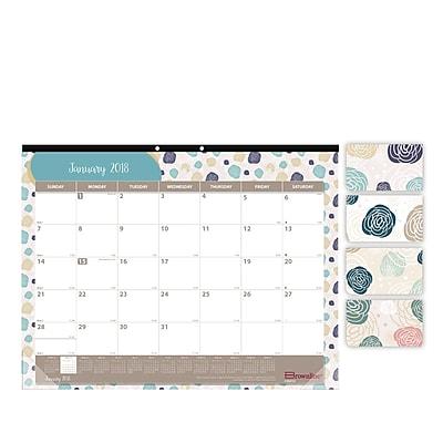 2018 Brownline 22 x 17 Begonia Monthly Desk Pad Calendar